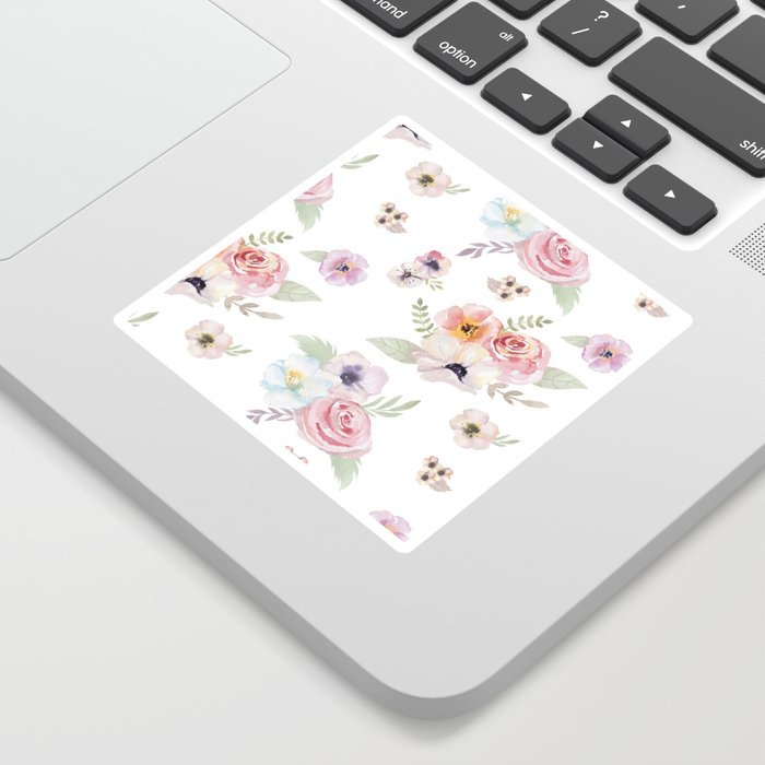Floral I - White Sticker