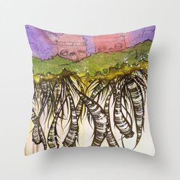 Another day on the floating island Throw Pillow