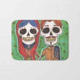 Te Amo Day of the Dead Bath Mat