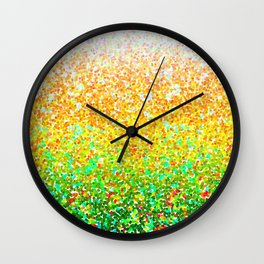 Color Dots Background G73 Wall Clock