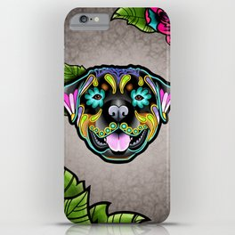 Rottweiler - Day of the Dead Sugar Skull Dog iPhone Case