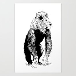 LionMonkey Chimera Art Print