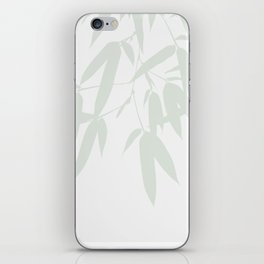 Leaves #Bamboo #Grey iPhone Skin