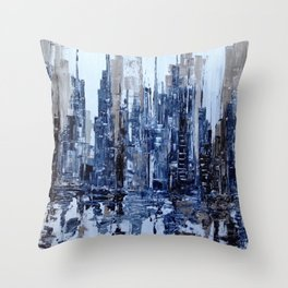 Dream in blue Throw Pillow