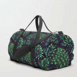 Cactus Floral - Green Duffle Bag