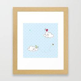 cotton cloud Framed Art Print