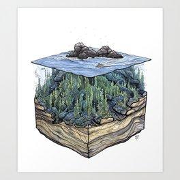 Off the Rocks Art Print