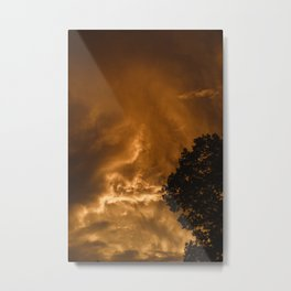 peach lightning Metal Print