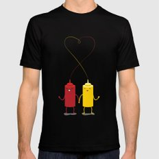 party couple Black Mens Fitted Tee MEDIUM