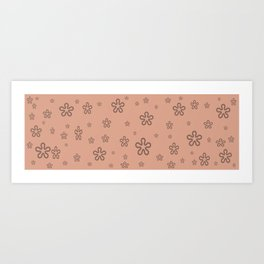 flowers on coral Art Print
