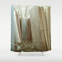 books Shower Curtains featuring Books by Jeremiah Locke