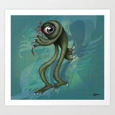 Monster is back  Art Print