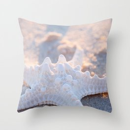 Knobby Starfish in the Sand Throw Pillow