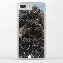Doug the Schnauzer Clear iPhone Case