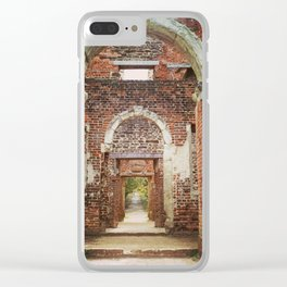 Mansion Hallway Clear iPhone Case