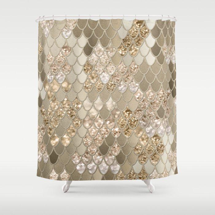 Mermaid Glitter Scales #5 (Faux Glitter) #shiny #decor #art #society6 Shower Curtain