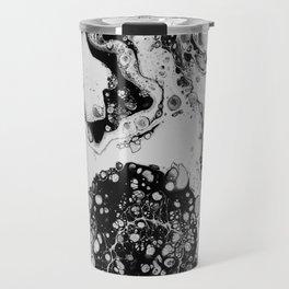 Monochrome Magic Fluid Acrylic Travel Mug