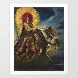"""Gustave Moreau """"Le char d'Apollon ou Phébus-Apollon"""" Art Print"""