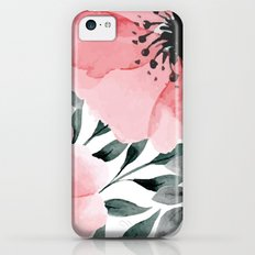 Big Watercolor Flowers Slim Case iPhone 5c