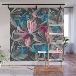 Pattern Floral Leaves Tropic Wall Mural