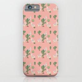 Alpaca with Cacti iPhone Case