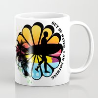 surfing Mugs featuring Surfing by mark ashkenazi