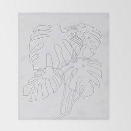 Monstera Illustration Throw Blanket