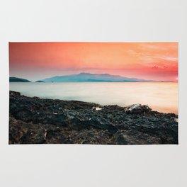 Sunset at sea IV Rug