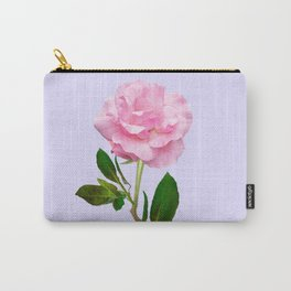 SINGLE PINK ROSE FOR LOVE Carry-All Pouch