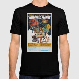 Wild Wild Planet 1965 Sci-Fi Precursor or Barbarella Queen Of The Galaxy Vintage Retro Movie Poster, T-shirt
