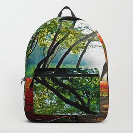 Path through Twilight Resurrection Lily Forest Backpack