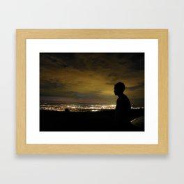 Blinding light that never sleeps Framed Art Print