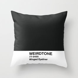 Winged Eyeliner Throw Pillow