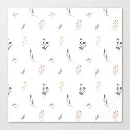 Little botanics pastel pattern Canvas Print