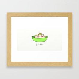 Human Beans Framed Art Print