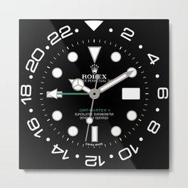 Rolex GMT-Master II Face - 116710LN - Black Dial Metal Print