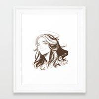 allison argent Framed Art Prints featuring Allison Argent by littlecofiegirl