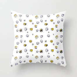 Dice, Daisies, and a lot of Skulls Throw Pillow