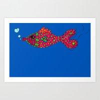 Fish Colorful Explosion Art Print