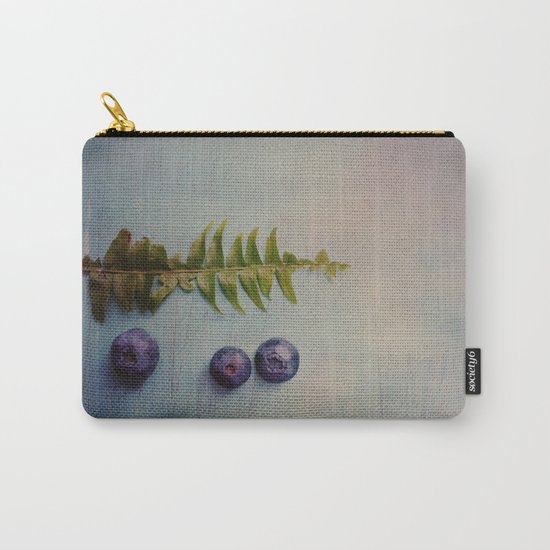 Fern and Blueberries Carry-All Pouch