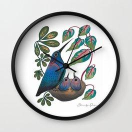 Mama Bird Wall Clock