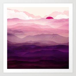 Ultra Violet Day Art Print