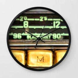 Vintage Porsche Car Radio Blaupunkt  Wall Clock