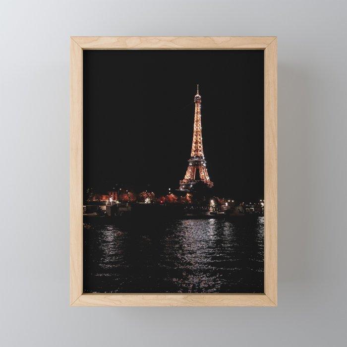 Rose Gold Eiffel Tower Framed Mini Art Print