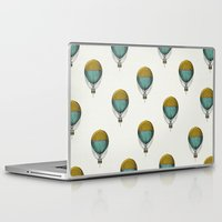 hot air balloons Laptop & iPad Skins featuring Hot Air Balloons by Juste Pixx Designs