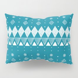 Geometric Teal, Turquoise abstract Pillow Sham