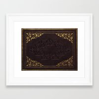 book cover Framed Art Prints featuring BOOK COVER by ED design for fun