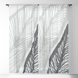 Sway To The Beat / Bold Banana Leaf Sheer Curtain