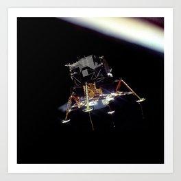 Eagle In Lunar Orbit  Art Print