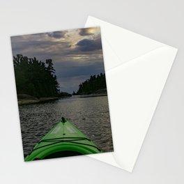 kayak on Georgian bay Stationery Cards